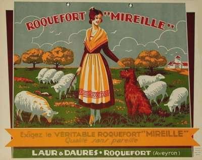 affiche roquefort mireille