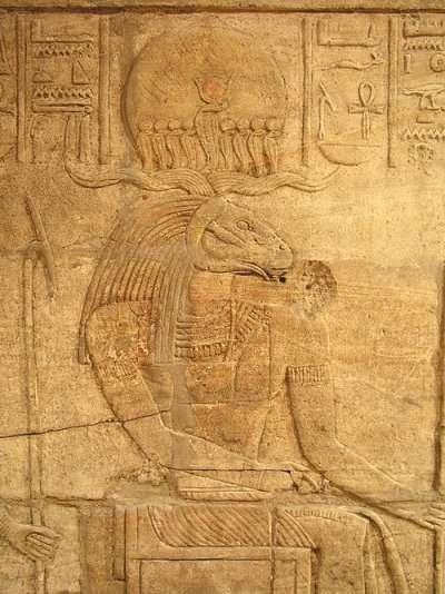 Amun Ra relief Temple of Amun Kawa Ancient Nubia Sudan   20071210