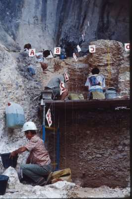 Excavarting in the Gorge de la Nesque