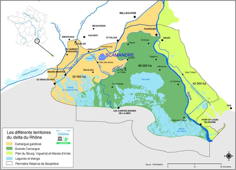 camargue carte delta
