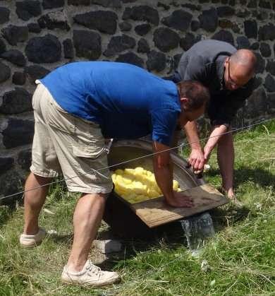 10b Préparation de laligot par le fermier