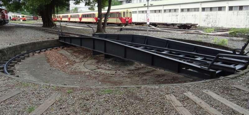 22 Ancien système de rotation manuelle des locomotives