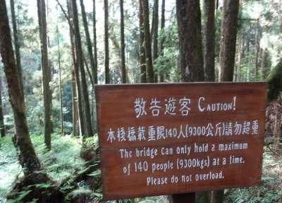 Le pont ne peut avoir de charge supérieure à 140 personnes (9300 kgs). S'il vous plaît ne le surchargez pas