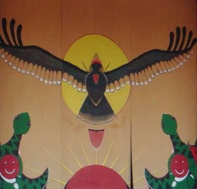 Mur peint d'une petite école à Taitung, sur le circuit cyclable montagne-océan