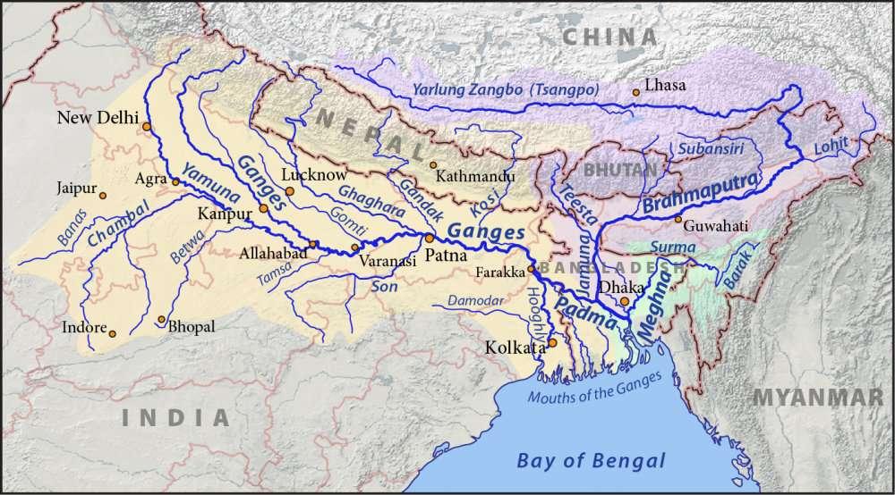 Ganges Brahmaputra Meghna basins