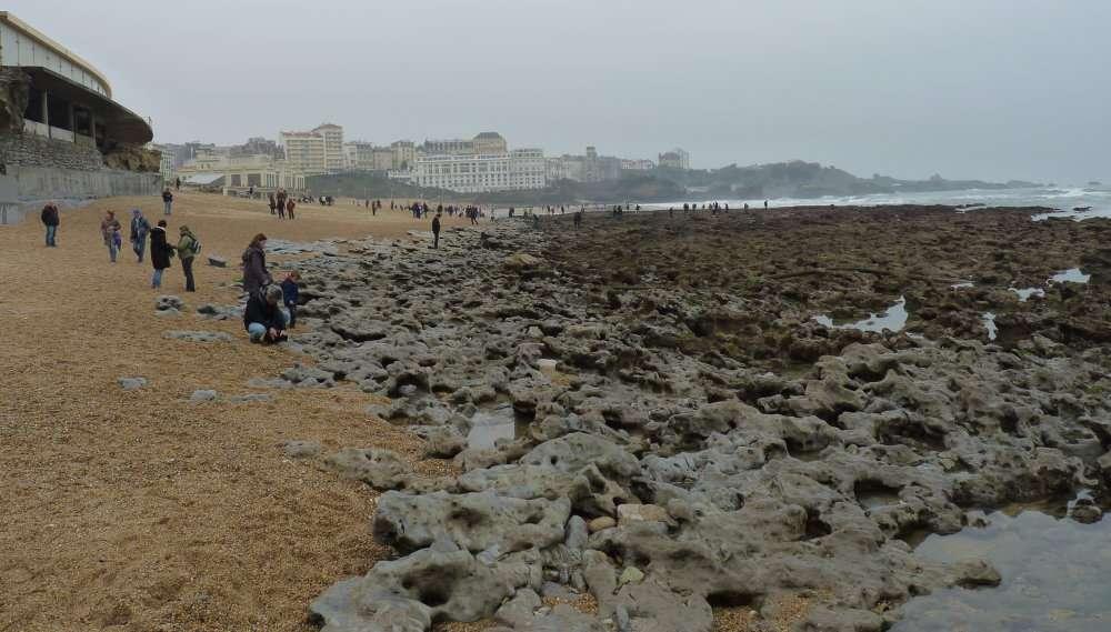Grande marée du 20 mars 2015 Grande Plage à Biarritz 2
