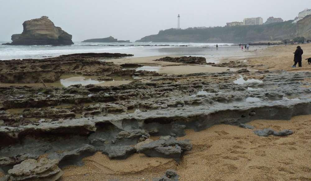 Grande marée du 20 mars 2015 Grande Plage à Biarritz 3