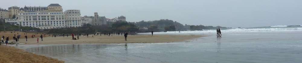 Grande marée du 20 mars 2015 Grande Plage à Biarritz 5