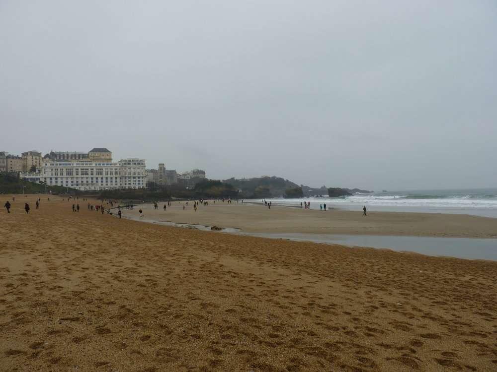 Grande marée du 20 mars 2015 Grande Plage à Biarritz