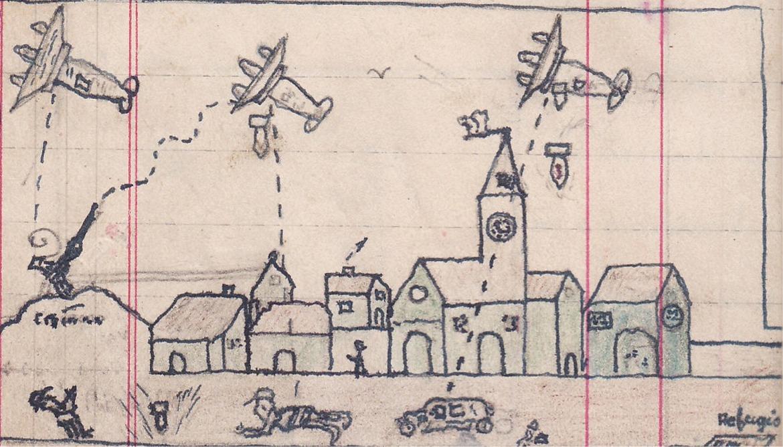 cuaderno angel yuste bombardeo dibujo