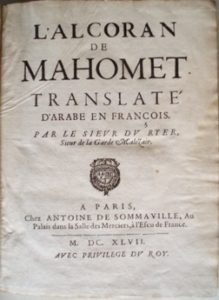 Alcoran de Mahomet 1647