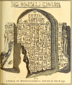 hieroglyphes axoum 1771 james bruce