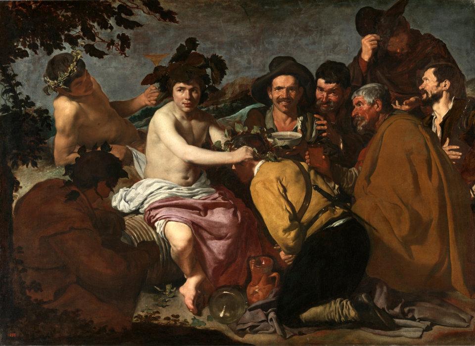 Velázquez   El Triunfo de Baco o Los Borrachos Museo del Prado 1628 29