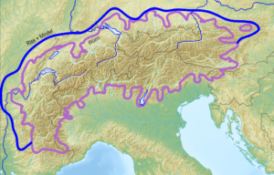 sp Map of Alpine Glaciations