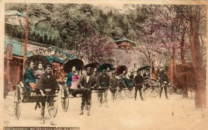 a3 kobe road geishas rickshaws