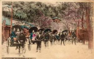 a3 kobe road geishas rickshaws