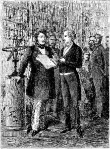 T4 d721 Fig. 445 — M. Le Verrier reçu par le roi Louis Philippe