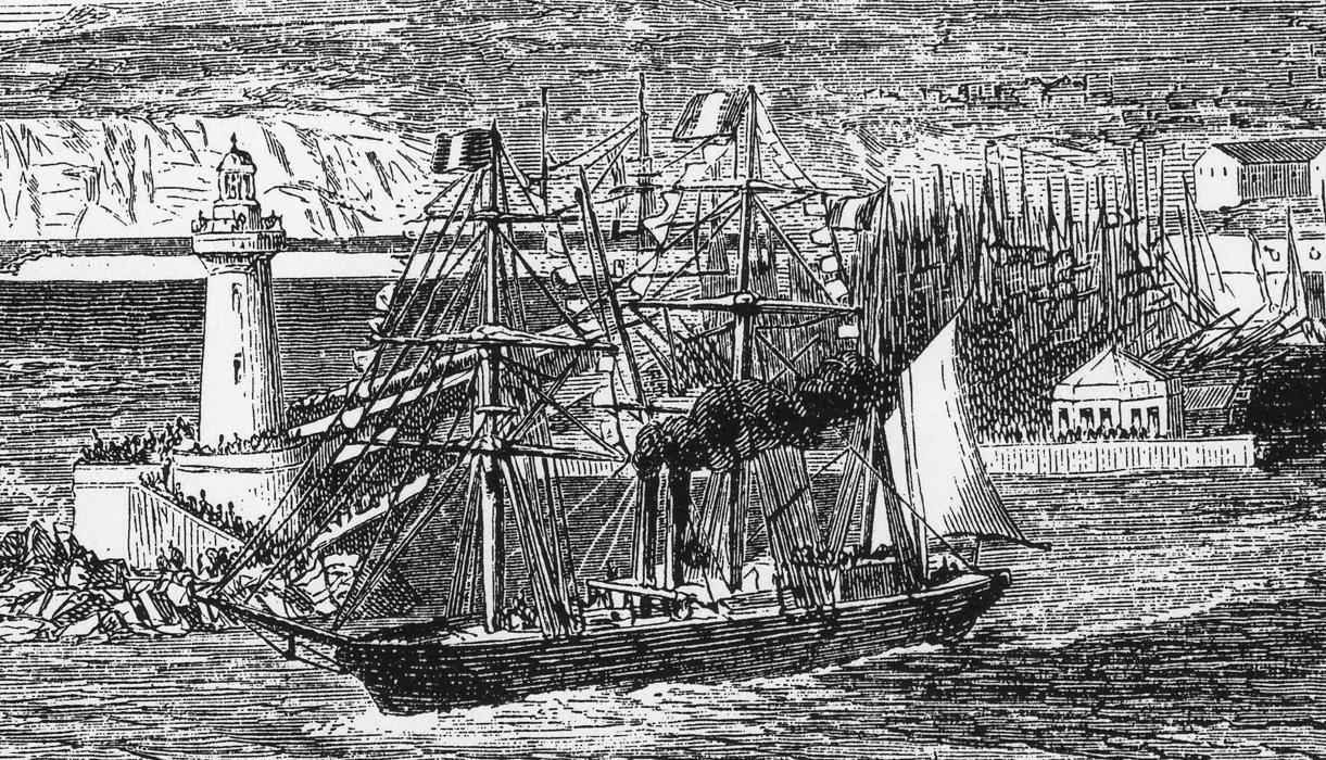 Bateau à vapeur Marseille 1862