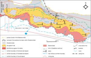 Geological map of the Wieliczka salt mine
