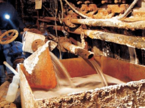 Two main water inflows in the Wieliczka Salt Mine from the left WVII 16 and WVI 32